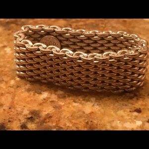 Tiffany & Co. 925 Sterling Silver Mesh Band Ring